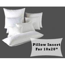 Fiber Fill Lumbar Pillow Forms 10x20 Cushion Cover Polyester Insert