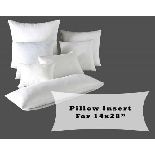 "Large Lumbar Pillow Fiber Fill Form Inserts for 14x28"" Cushion Covers"