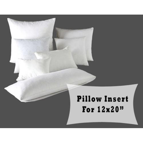 Polyester Fiber Fill Pillow Insert Cushion Forms 12x20 Lumbar Inner
