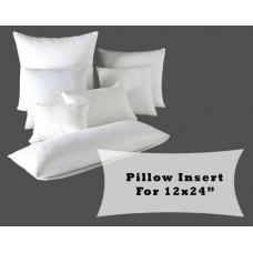 "Polyester Fiber Fill Pillow Inserts for 12x24"" Lumbar Pillow Covers"