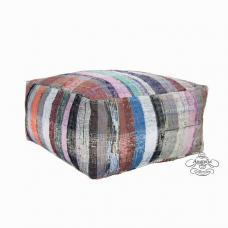 Burlap Berber Pouf Interior Decor Floor Throw Pouffe Ottoman Kilim Puff