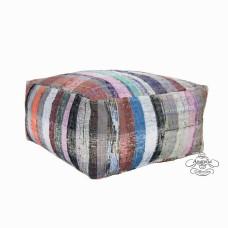 Burlap Berber Pouf Interior Decor Floor Throw Pouffe Ottoman Kilim Puff