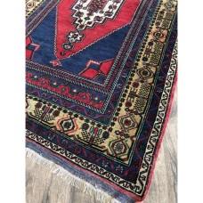 """3' 10"""" x 6 9"""" Turkish Rug Handmade Vintage Wool Carpet"""