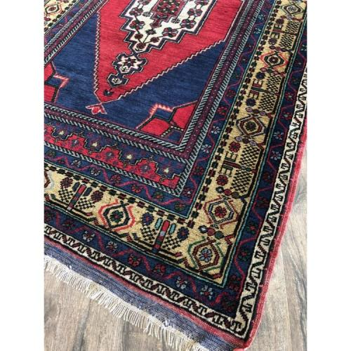 "3' 10"" x 6 9"" Turkish Rug Handmade Vintage Wool Carpet"