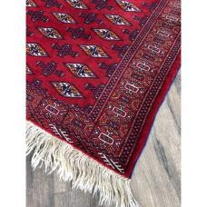 """3' 11"""" x 5 1""""' Uzbek Bukhara Rug Handmade Vintage Carpet"""