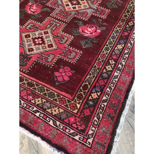 "4'4"" x 6'6"" Russian Rug Handmade Distressed Vintage Carpet"