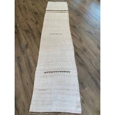 9 feet Runner White Hemp Handmade Vintage Hallway Kitchen Bedroom