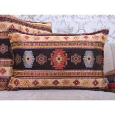 Turkish Decorative Kilim Rug Pattern Throw Pillow Lumbar Sofa Cushion