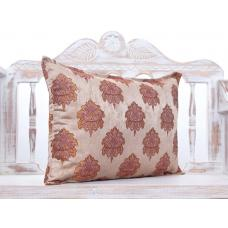 Luxury Red~Brown Lumbar Pillow Woven Decorative Tapestry Accent Cushion