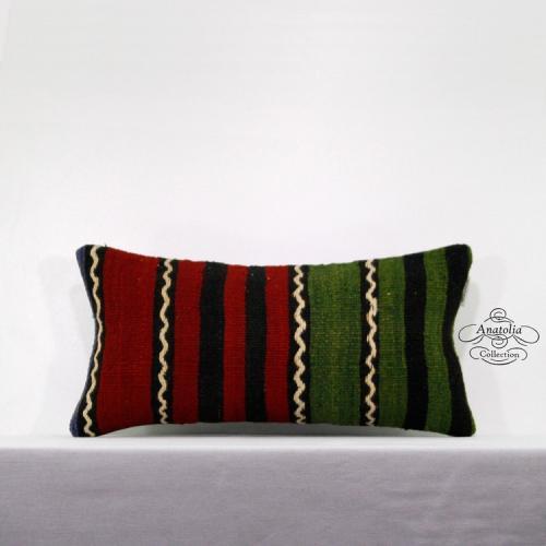 Ethnisch Gestreift Sitzkissen Vintage Sofakissen Handgemacht Teppich Kissenhülle
