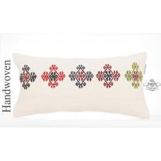 "Shabby Cottage Decor Kilim Pillow Cover 10x20"" White Embroidered Sofa Throw"
