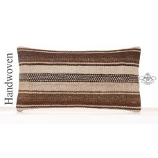 Ethnic Decorative Lumbar Kilim Pillowcase Natural White Cushion Cover