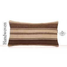 Ethnic Vintage Kilim Pillowcase 10x20 Home Decor Accent Lumbar Pillow