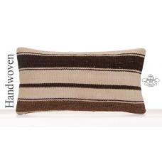 Striped Lumbar Kilim Cushion Cover Decorative Natural Rug Throw Pillow