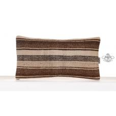 Vintage Decorative Cushion Cover Old Hand Woven Kilim Throw Pillow