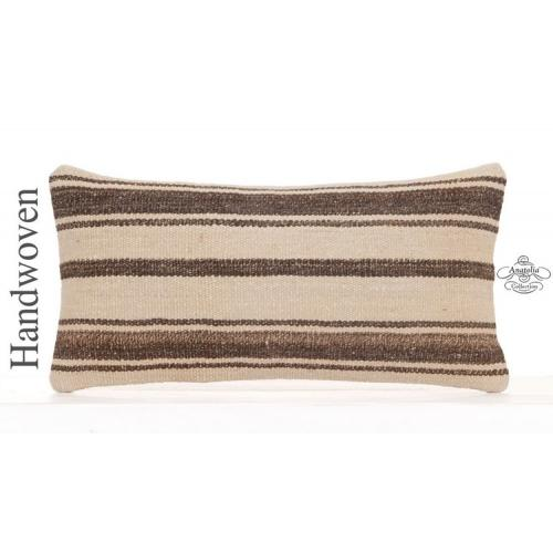 Modern Living Room Decor Sofa Throw Pillow 10x20 Striped Kilim Cushion