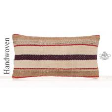 "Retro Interior Decor Lumbar Pillowcase 10x20"" Striped Kilim Sofa Throw"