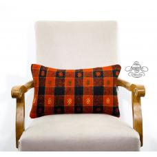 """Checked Embroidered Kilim Pillow Turkish Decorative Lumbar Cushion Cover 12x20"""""""