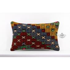 Cottage Lumbar Cushion Cover Interior Decor Accent Kilim Rug Pillowcase 12x20""