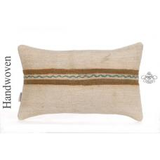 "Shabby Cottage Lumbar Pillow 12x20"" Anatolian Kilim Rug Cushion Sofa Decor Sham"