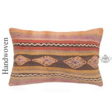 "Antique Kilim Pillow Cover 12x20"" Shabby Lumbar Cushion Decorative Sofa Throw"