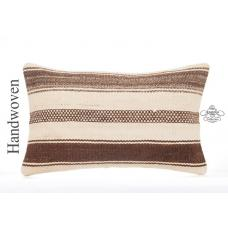 "Interior Cottage Decor Accent Lumbar Kilim Cushion 12x20"" Striped Throw Pillow"