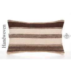 "White Shabby Cottage Chic Pillow Throw 12x20"" Lumbar Kilim Cushion Cover"