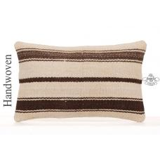 Striped Contemporary Lumbar Throw Pillowcase Decorative Kilim Pillow