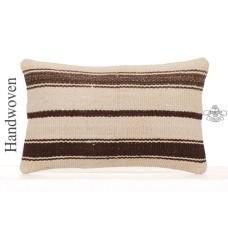 Striped Contemporary Lumbar Throw Pillowcase Decorative Kilim Pillow