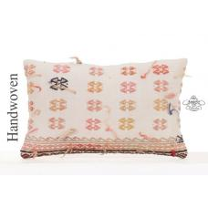 "Tulu Embroidered Kilim Pillowcase 12x20"" Decorative Vintage Sofa Throw"