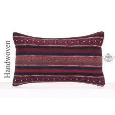 """Aztec Lumbar Kilim Pillow Cover 12x20"""" Sofa Couch Throw Retro Cushion"""