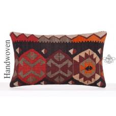 "Oriental Home Decor Accent Kilim Pillowcase 12x20"" Lumbar Throw Pillow"