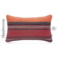 "Aztec Decorative Kilim Pillow Cover 12x20"" Striped Vintage Rug Cushion"