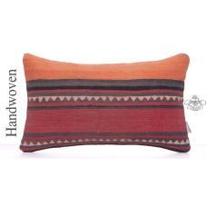 "Aztec Decorative Kilim Pillow Cover 12x20"" Striped Vintage Rug Cushion"
