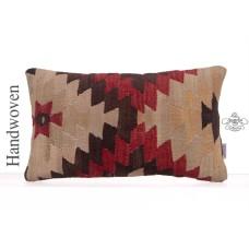Decorative Sofa Throw Handmade Vintage Rug Cushion Lumbar Kilim Pillow