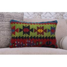 "Nomadic Kilim Pillow 12x20"" Home Decor Pillowcase Handmade Rug Cushion"