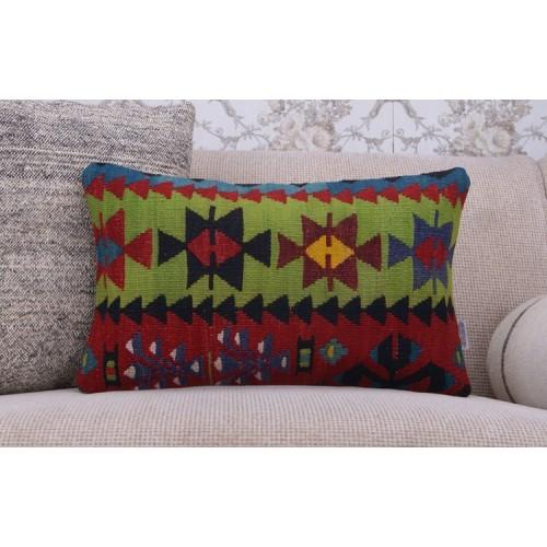 "Nomadic Kilim Pillow 12x20"" Home Decor Pillowcase Handmade Rug Cushion"