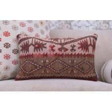 "Oriental Lumbar Rug Cushion 12x20"" Vintage Decor Throw Kilim Pillowcase"