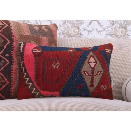 Vintage Lumbar Rug Cushion Cover Boho Interior Decor Kilim Throw Pillow