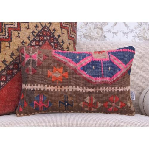 Boho Room Decor Rug Pillow Lumbar Sofa Bed Throw Handmade Kilim Cushion