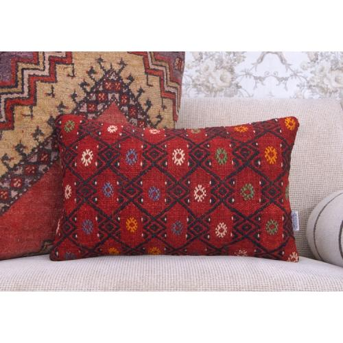 Red Decor Accent Kilim Cushion Retro Embroidered Bed Sofa Throw Pillow