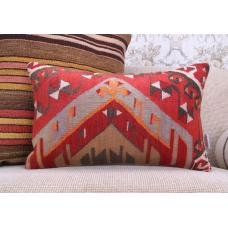 "Anatolian Vintage Rug Cushion 12x20"" Oriental Kilim Throw Sofa Pillow"