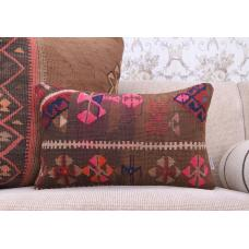 Boho Living Decor Throw Kilim Pillowcase Colorful Handmade Rug Cushion