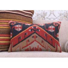 Interior Decoration Oriental Lumbar Kilim Pillow Turkish Rug Cushion