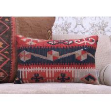 Oriental Lumbar Rug Cushion Ethnic Home Decoration Sofa Throw Pillow