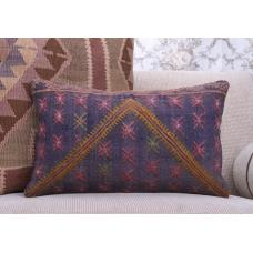 Designer Handmade Kilim Pillow Embroidered Eclectic Sofa Decor Throw