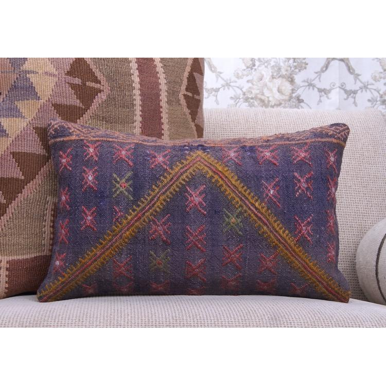 Kilim Pillow Embroidered Eclectic Sofa