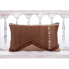 Eastern Vintage Lumbar Sofa Pillow Decorative Handmade Kilim Cushion