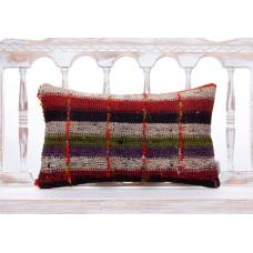 Ethnic Striped Handmade Kilim Pillow Colorful Retro Sofa Decor Throw