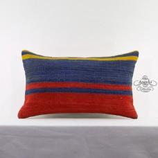 Rustic Interior Decoration Kilim Cushion Cover Striped Lumbar Kelim Rug Pillow